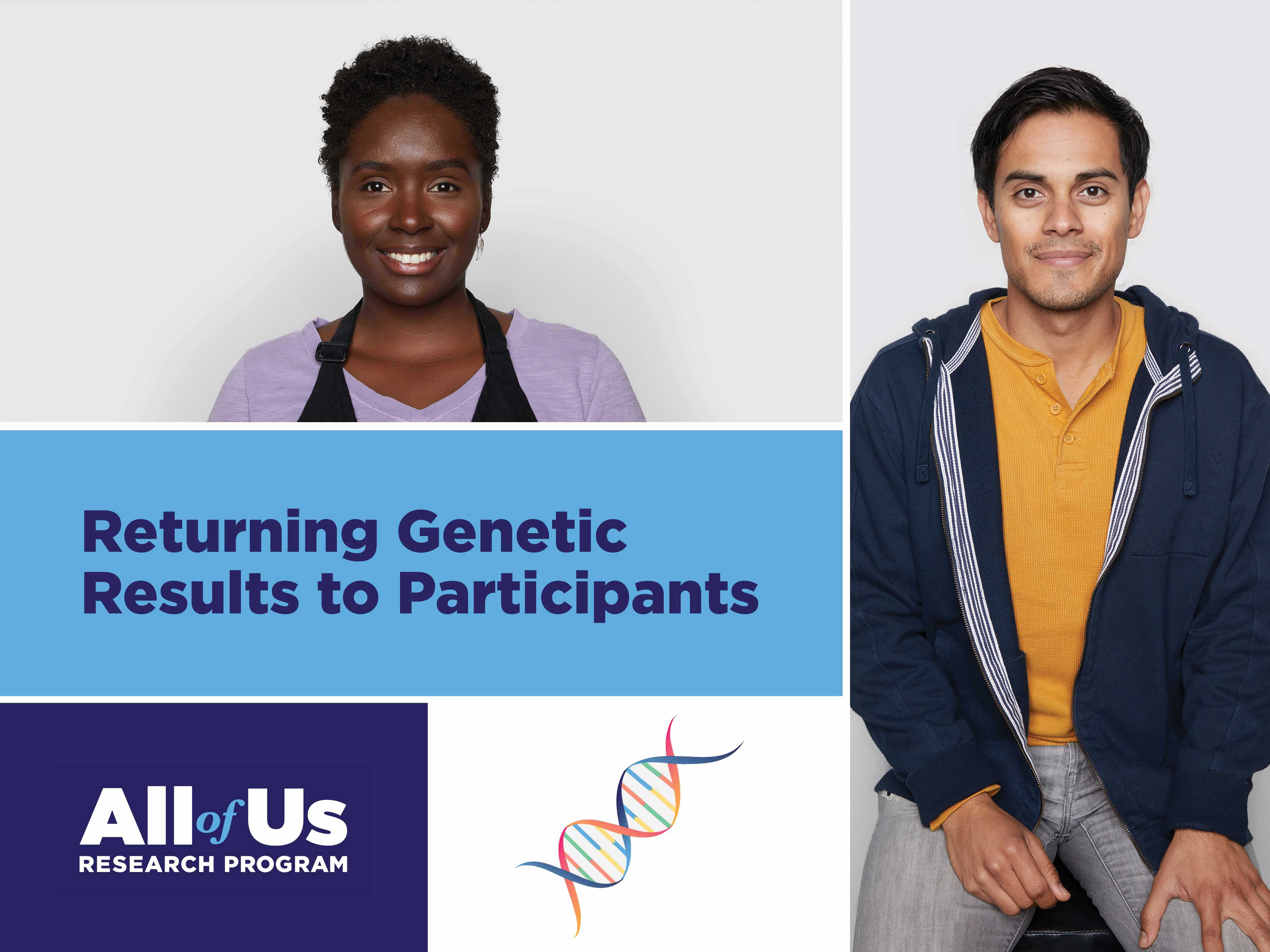 Returning Genetic Results to Participants Graphic